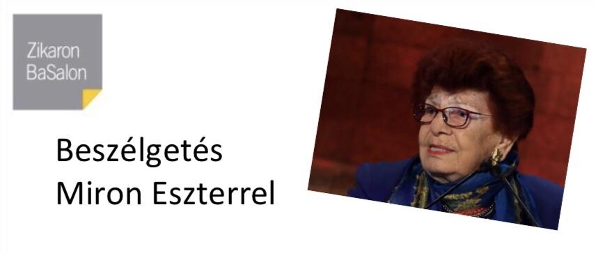 Magyar Nagykövetség: élő beszélgetés Miron Eszterrel a Holokauszt Nemzetközi Emléknapja alkalmából
