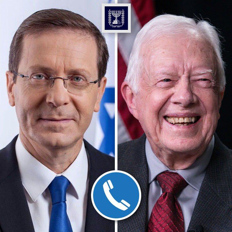 Herzog elnök telefonon mondott köszönetet Jimmy Carternek | Új Kelet online