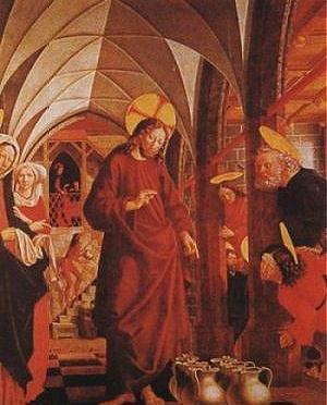 Víz-bor-vér-lélek. Jézus első csodatétele a kánai menyegzőn.