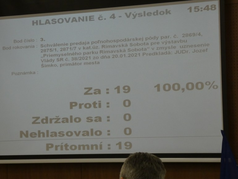 A szavazás végeredménye