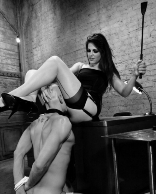 A Woman and her male slave