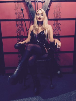In The Fetish Studio Reading Queening It Up On The Throne