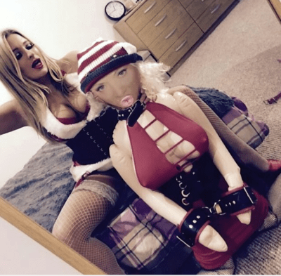Dominatrix Mistress Kaz & Blow Up Doll Jizelle