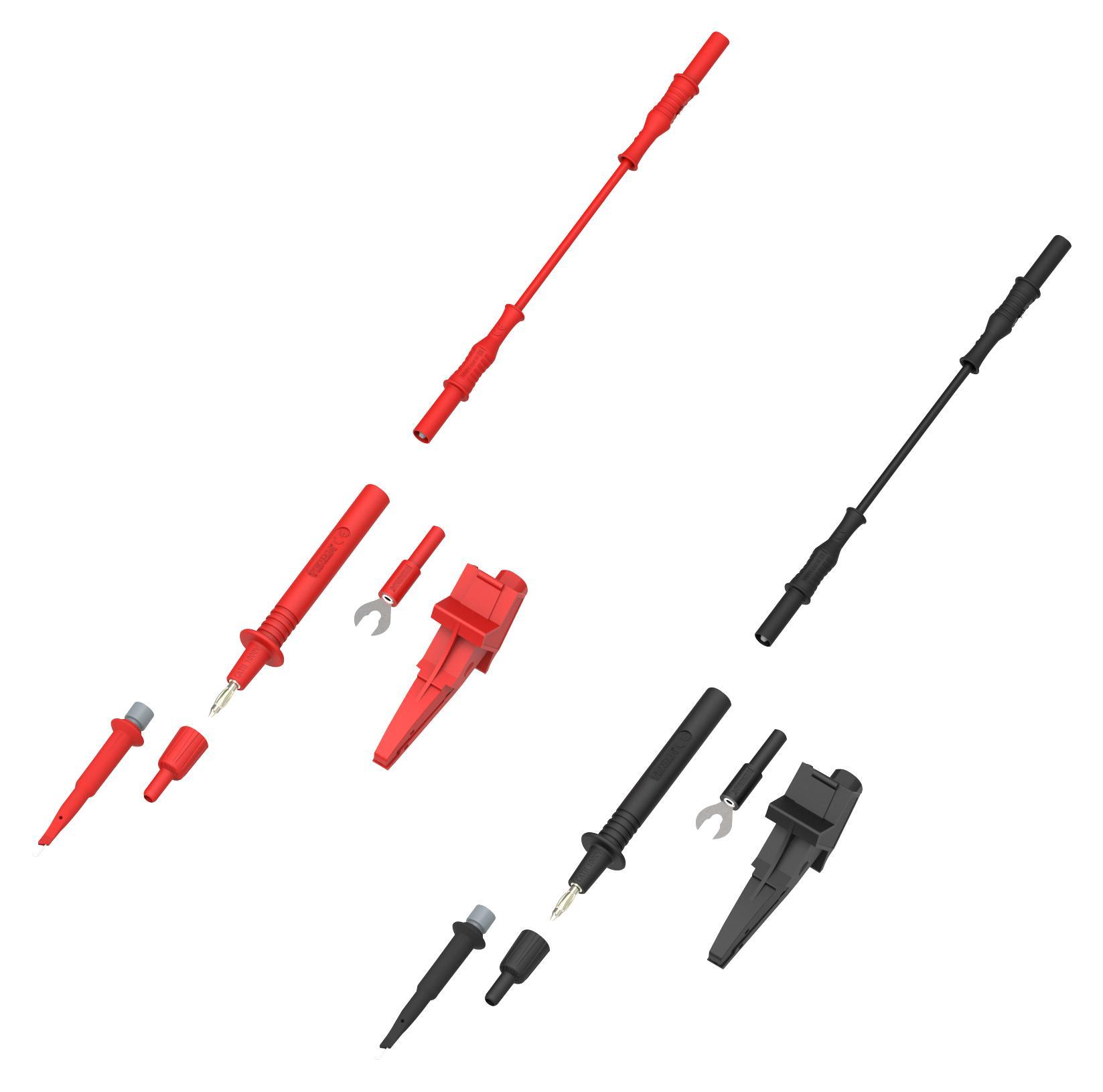 76-103 TENMA, Test Lead Probe Kit, Black / Red, Leads