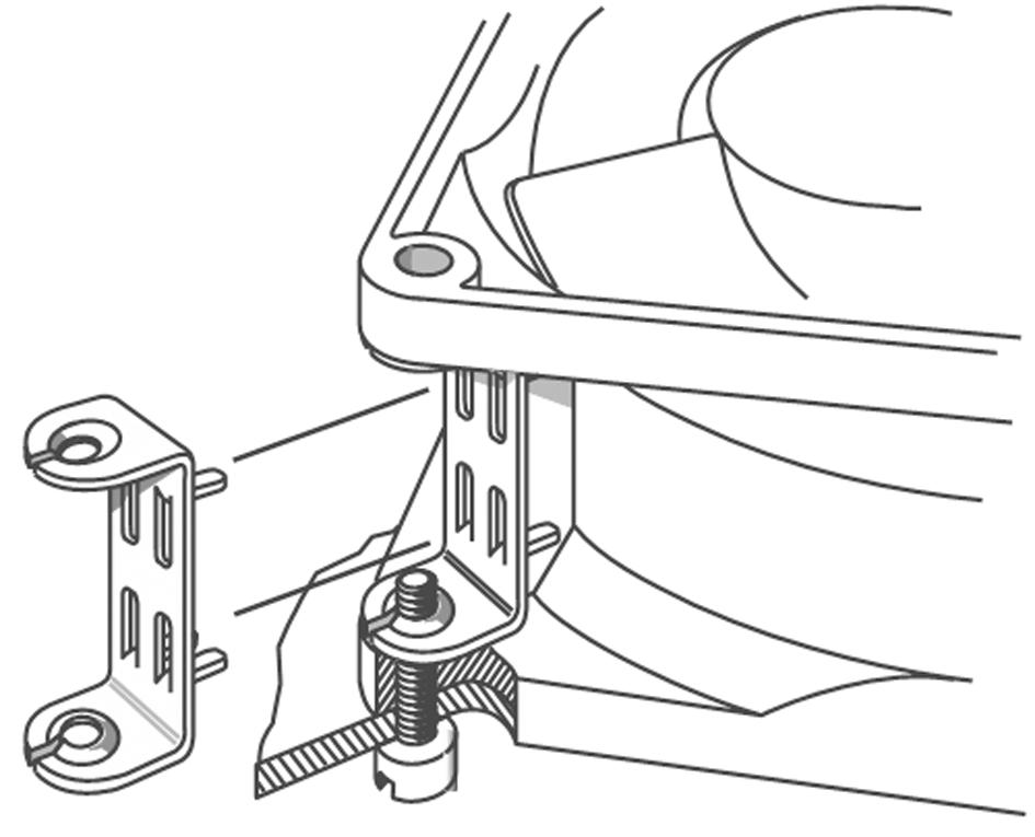LZ212 EBM-PAPST, Fan Accessory, Mounting Clip