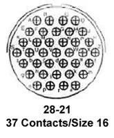 MS3106A-28-21P AMPHENOL AEROSPACE, Circular Connector, MIL
