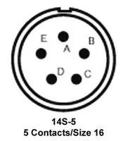 MS3106F14S-5P ITT CANNON, Circular Connector, MIL-DTL-5015