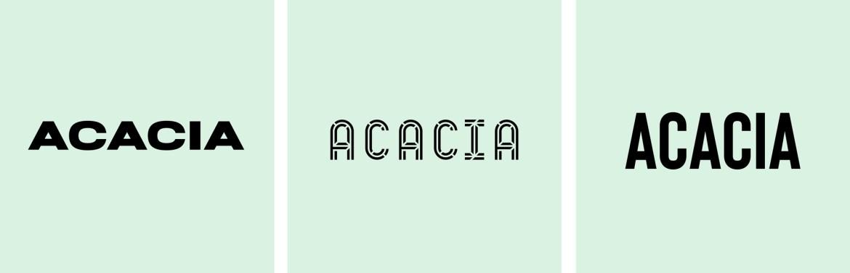 how to design logo modern fonts