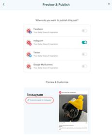 websites marketing customize instagram
