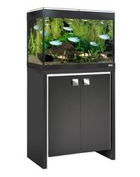 15539 Fluval Roma 90 Cabinet Black With White Insert