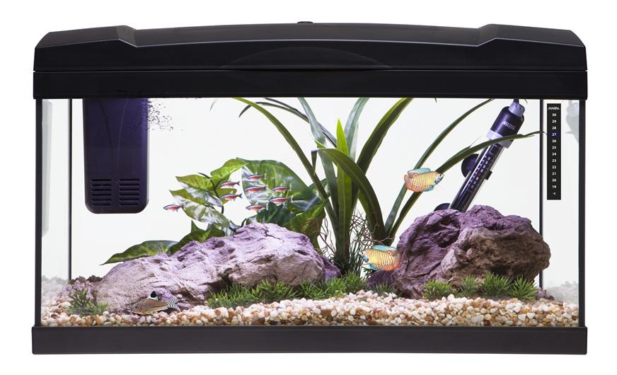 15169  Marina Premium 54 Aquarium Set Black