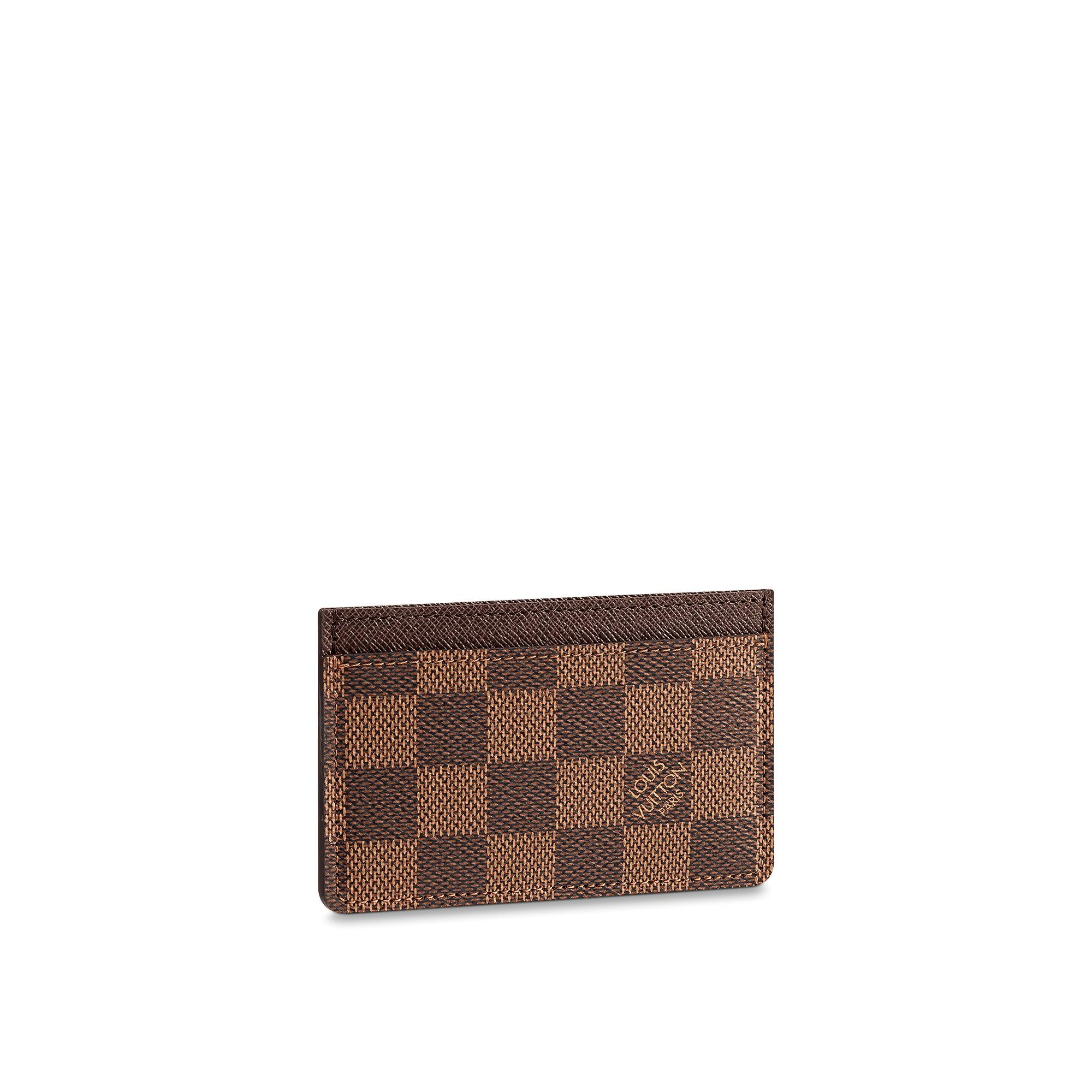 Christmas  Small Leather Goods Card Holder Damier Ebene Canvas  LOUIS VUITTON