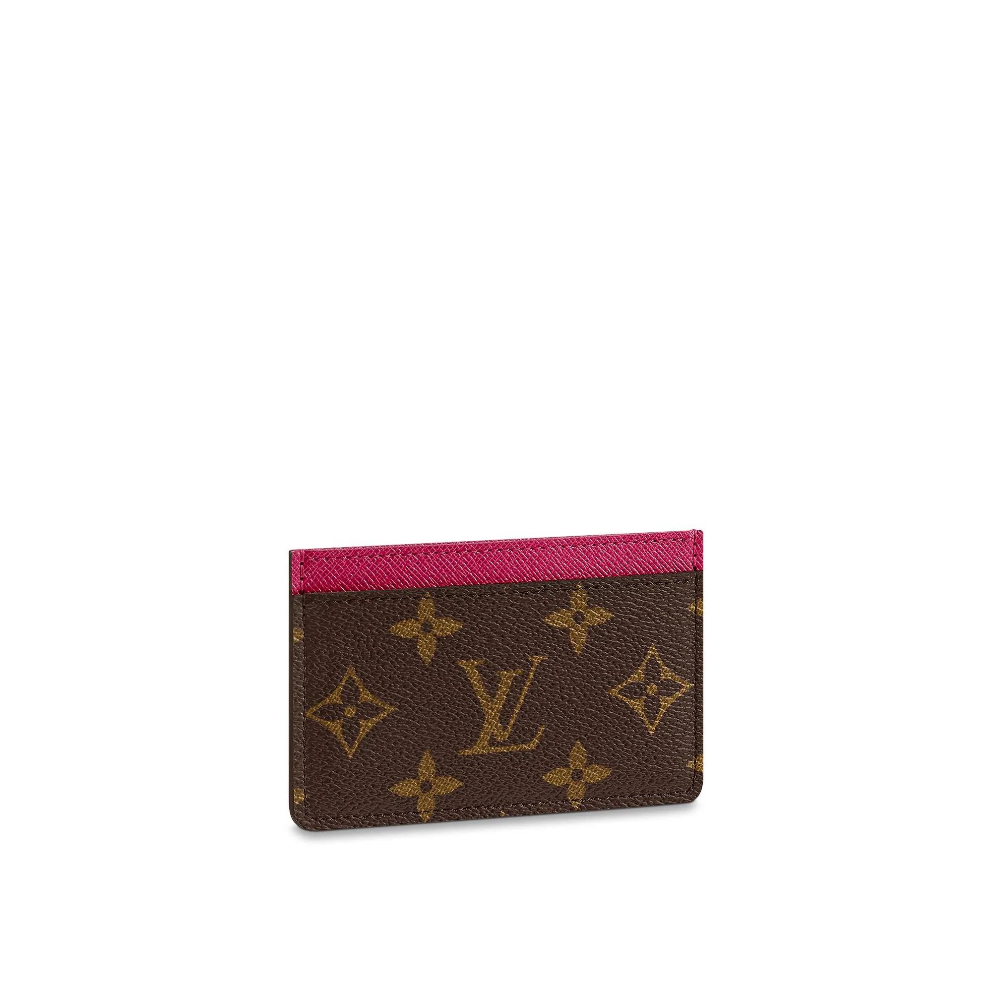 Christmas Small Leather Goods Card Holder Monogram