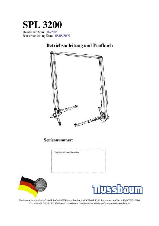 Nussbaum Hebetechnik