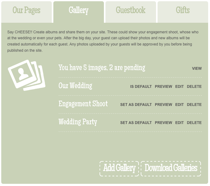 Paperless Wedding Tip – Photo Gallery