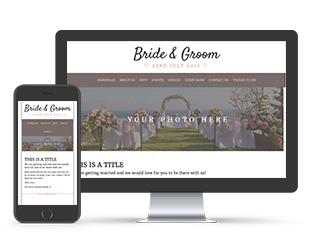 Paperless Wedding Website Warm Summer Template