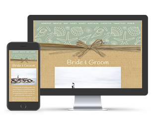Paperless Wedding Website Raffia Template
