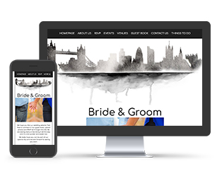 London Skyline Wedding Invite Template