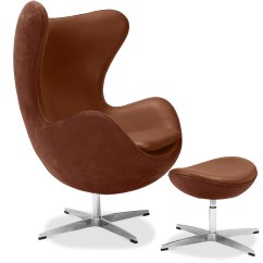 Hanging Egg Chair Uk Office Chairs Raleigh Nc & Ottoman Arne Jacobsen Leather