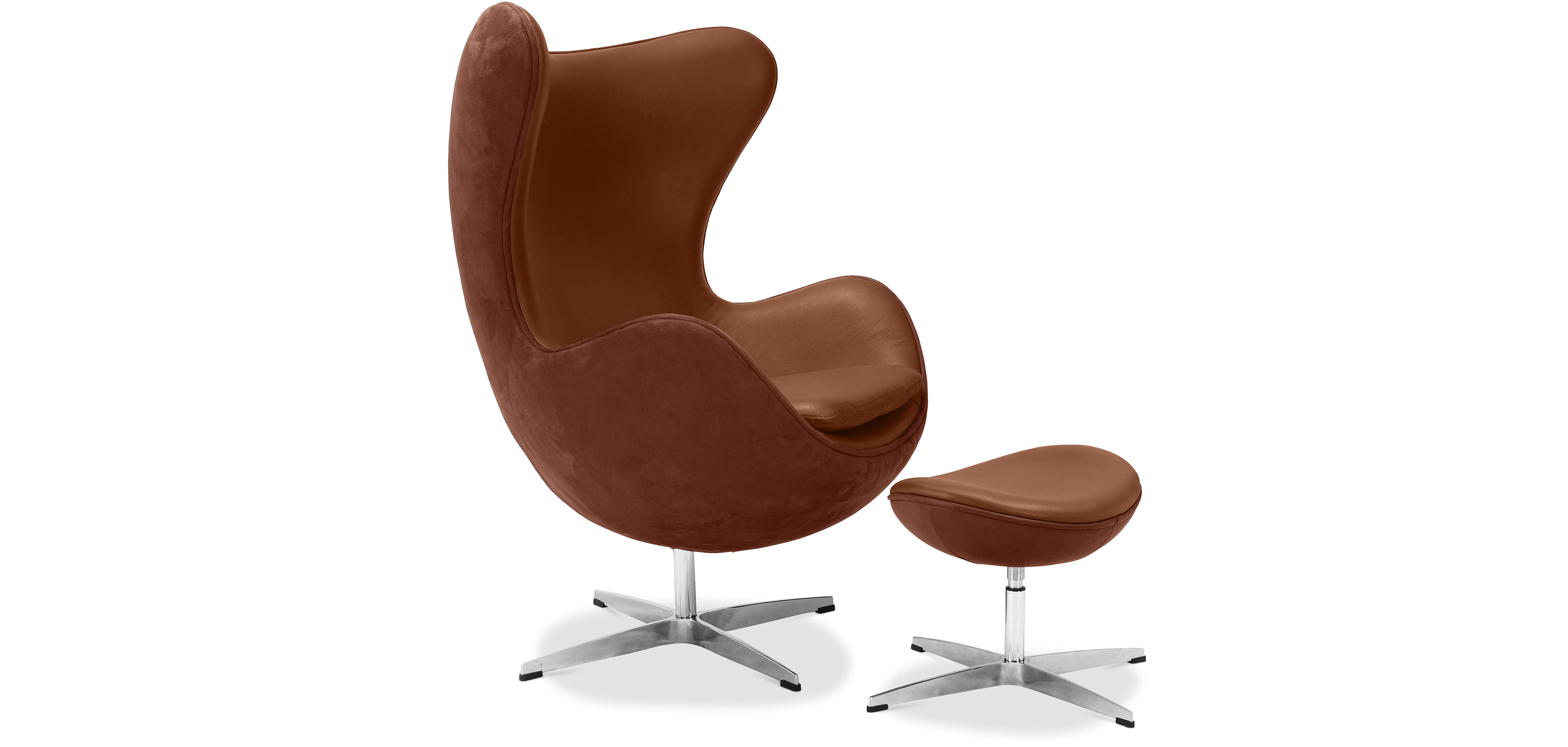 Brown Leather Egg Chair Egg Chair And Ottoman Arne Jacobsen Leather