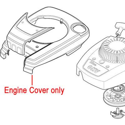Mountfield Mountfield RS100 Engine Cover (Black) 381002079/0