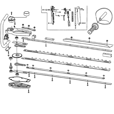Mitox Mitox HTS-700 Hedge cutter Upper Blade