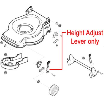 AL-KO AL-KO Replacement Lawnmower Front Height Adjuster Lever (527700)