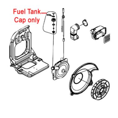 Gardencare Gardencare Fuel Tank Cap Assembly B650 Backpack Blower GCEB-415.4.1