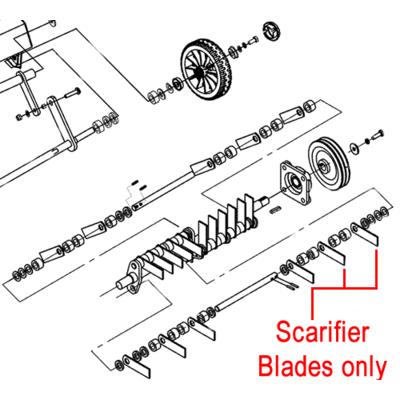 Weibang Weibang WB487CRB Scarifier Blades Set  (28 blades) 46R0306010/04