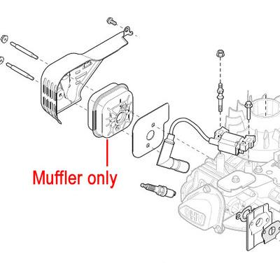 Mountfield Mountfield RS100 Engine Muffler 118550708/0