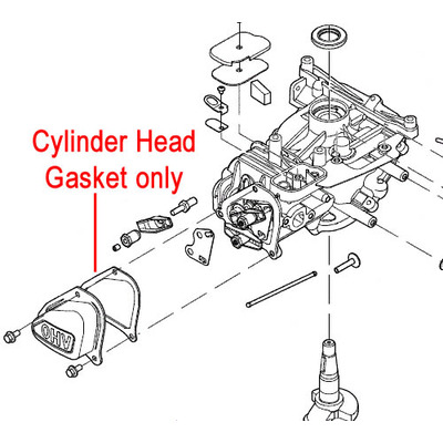 Mountfield Mountfield RS100 Engine Cylinder Head Gasket 118550680/0