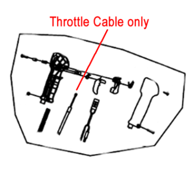 Gardencare Gardencare Throttle Cable B650 Backpack Blower GC3WF-16.3.2.2