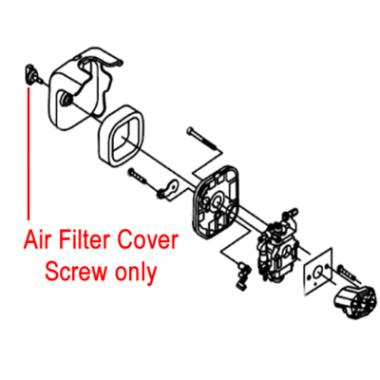 Gardencare Gardencare Replacement Air Filter Cover Screw GC1E34F.1.2