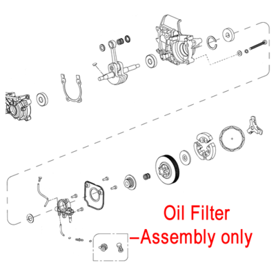 Mitox Mitox Chainsaw Oil Filter Assembly MIYD38-3.00.00-16