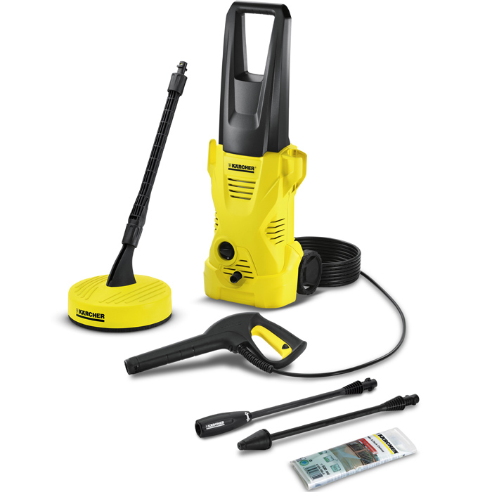 Karcher K2 Home Pressure Washer with Patio Cleaner 110 Bar 1400w