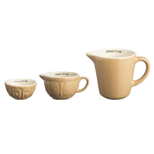 Mason Cash Cane Vintage Style Measuring Cups x3