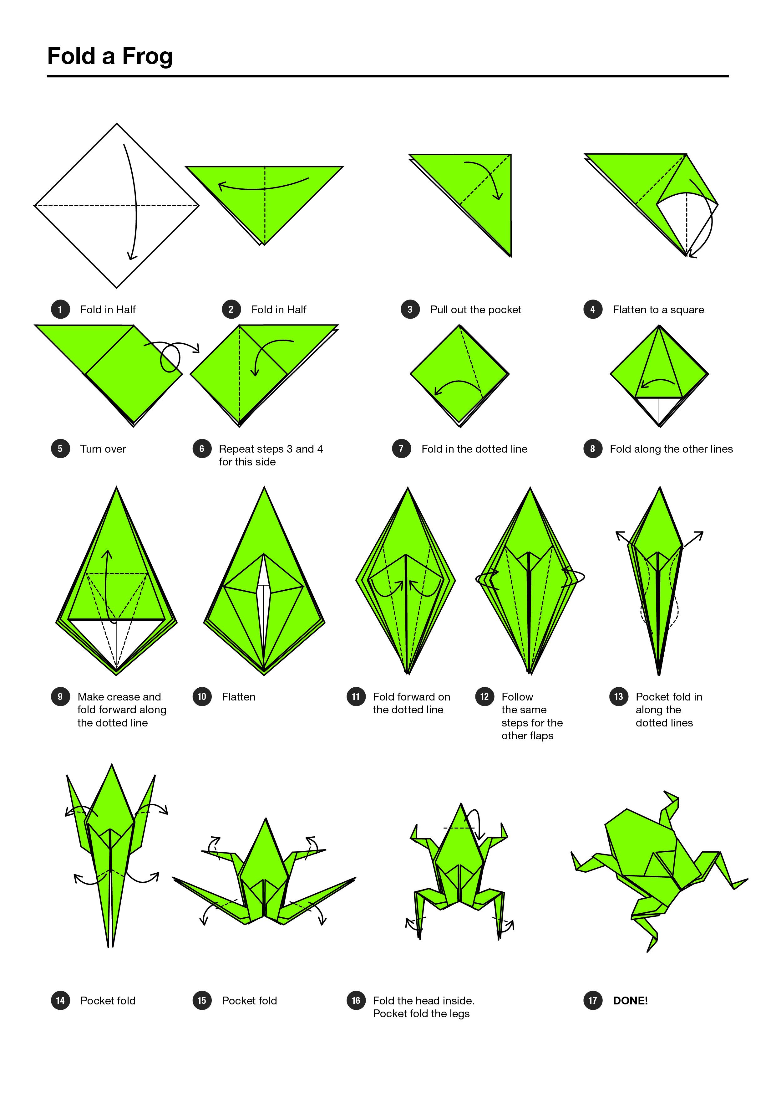 origami jumping frog diagram nissan 3 timing belt instructions for a