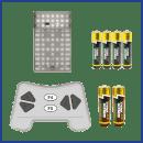 Space Vehicle Building Kit includes batteries
