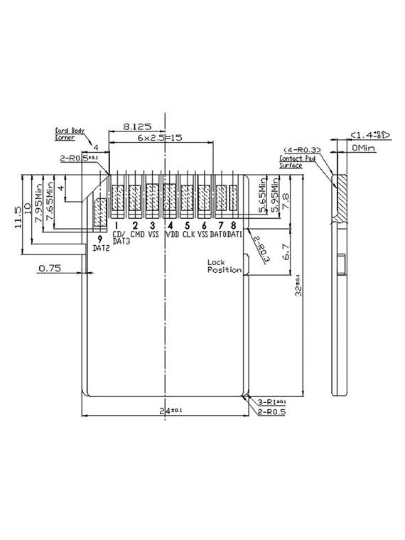 Industrial Temp SD100I SD Card