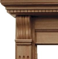 Corbel Waxed Solid Oak Fireplace Surround