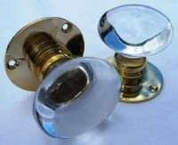 Bohemian Crystal Clear Glass Door Knobs | Old Fashioned