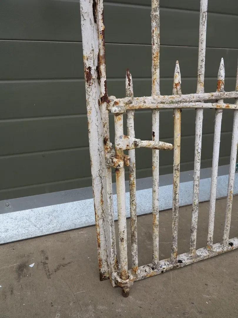 iron outdoor chairs chiavari wedding ann arbor mi pair of antique wrought driveway gates