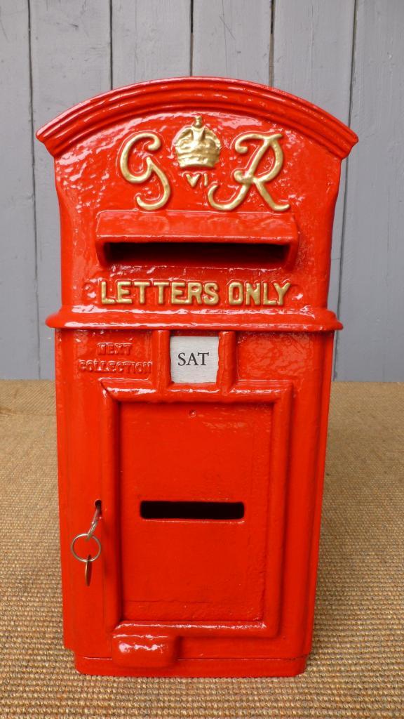 Original Antique Royal Mail Post Box & Letter Boxes
