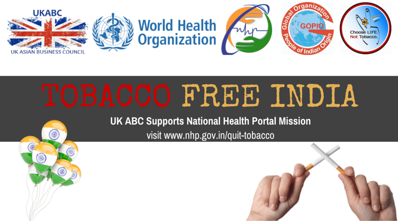 "UKABC Supports ""TOBACCO FREE INDIA"" In Association with WHO, National Health Mission"
