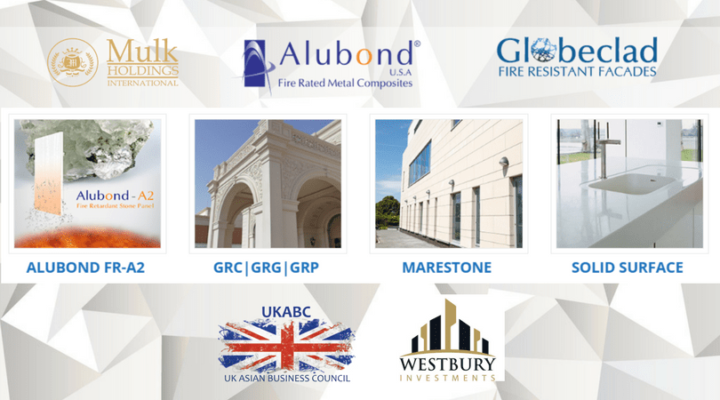 Business / trade opportunity focus on providing complete turnkey solutions in Fire Retardant Facades projects from ALUBOND, MARESTONE & SOLID SURFACE