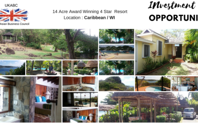 Investment / Purchase or Joint Venture Opportunity 14 Acre Award Winning 4 Star Resort at Caribbean/WI, mins from the Main Islands with an Int'l Airport – UK Asian Business Council Exclusive Promotion