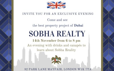 Exclusive evening with Sobha Developers – 14th Nov 2019