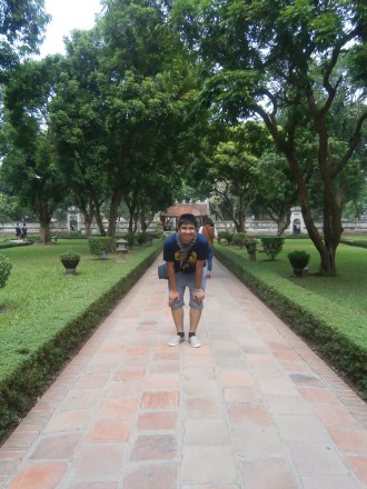 Here at the Temple of Literature of Hanoi (Vietnam's first national university)