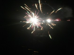 Multi-colored fireworks in welcoming the new year
