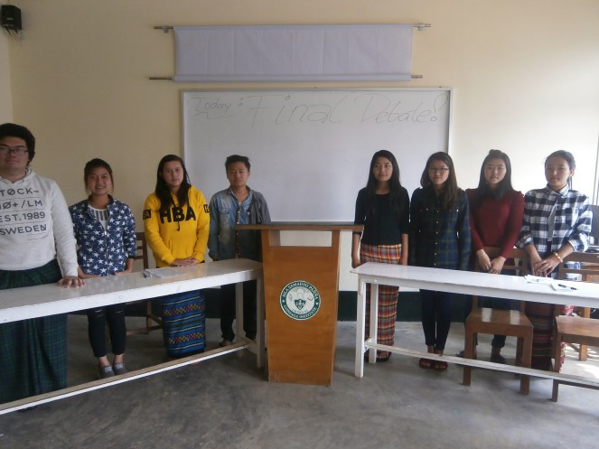 A group of Stanislaus Class students during their first-ever Debate & Argumentation